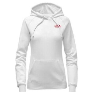 The-North-Face-Women-039-s-Jumbo-Logo-White-Hoodie-Pullover-Sz-L-NWT-Rare