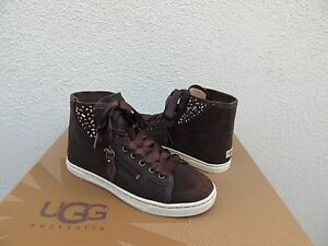 0efeb5bd407 Details about UGG CHOCOLATE BOMBER BLANEY CRYSTALS ANKLE SNEAKER BOOTS ~  MOST SIZES ~ NIB