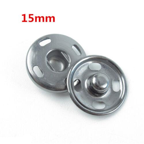 Botones de metal Snap Fastener Press Stud Popper Cosa en tejido de costura