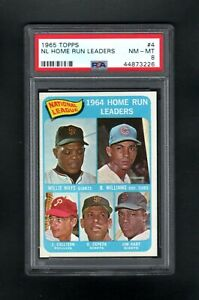 1965-TOPPS-4-NL-HOME-RUN-LEADERS-MAYS-WILLIAMS-CALLISON-PSA-8-NM-MT-SHARP-CARD