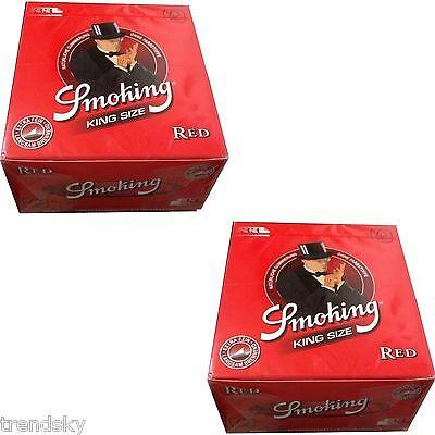 2 x Box Smoking Red 50 x 33 King Size Papers Blättchen Zigarettenpapier ( 1024