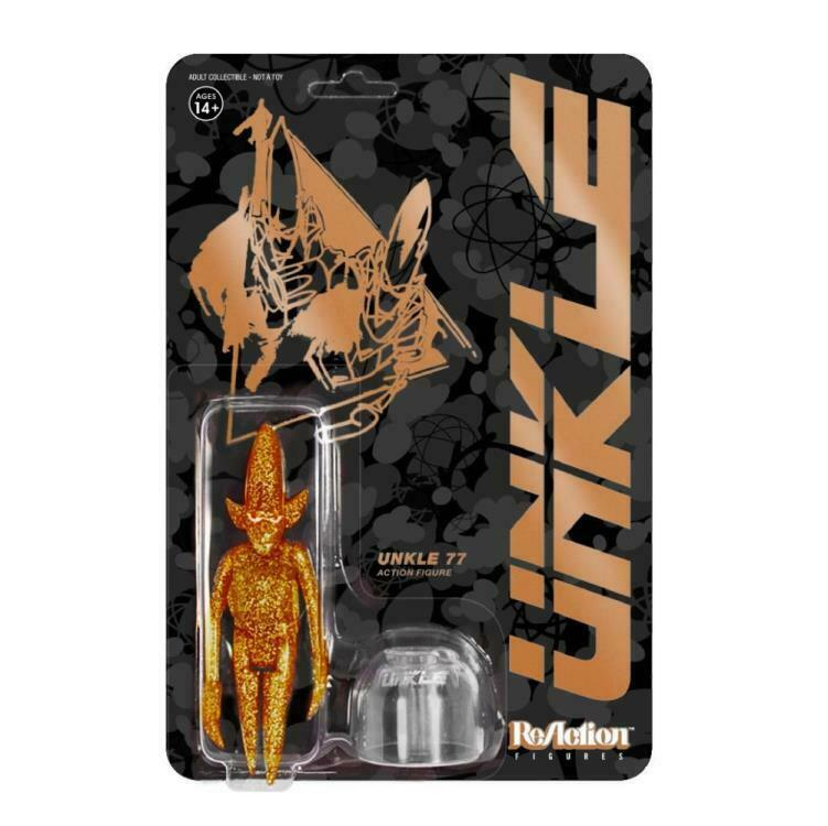 Unkle 77 FUTURA Figure Reaction Art toy Rare FUTURA 2000 pointman COPPER