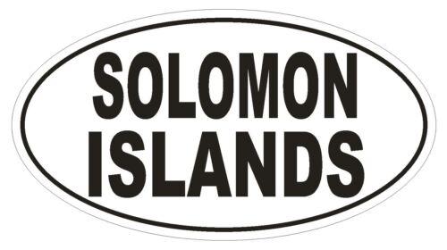 Solomon Islands Oval Bumper Sticker or Helmet Sticker D2230 Euro Oval Code