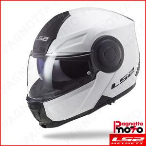 CASCO MOTO LS2 MODULARE APRIBILE FF325 STROBE BIANCO TG XS S M L XL XXL