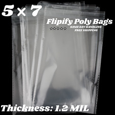 5x7 Clear Resealable Poly Plastic Opp Bags Self Adhesive Seal Cello Package Gift