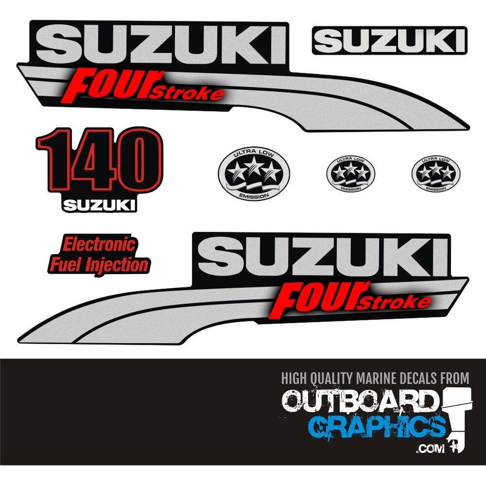 Suzuki DF140EFI 4-takt abziehbilder / aufkleber-kit aufkleber-kit / c37a7d