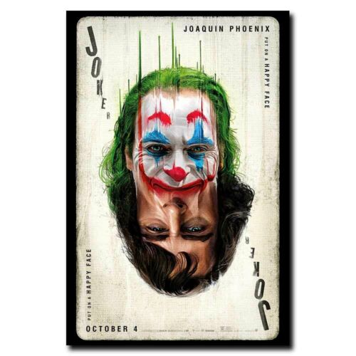 Joker Poker 24x16//24x36inch Joaquin Phoenix Movie Silk Poster Wall Decoration