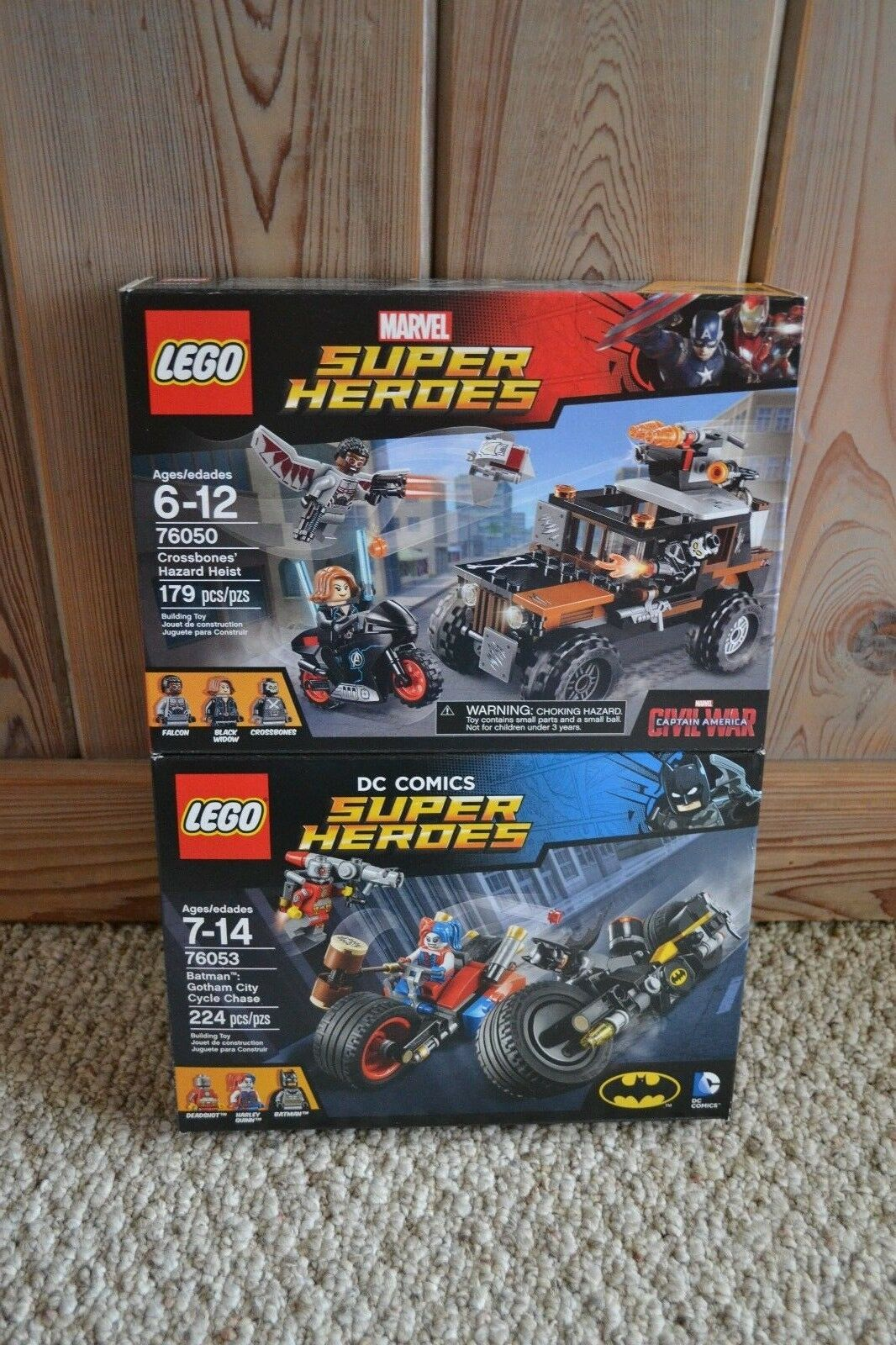 New Lego 76053 76050 Marvel Super Heroes Gotham Cycle Chase Crossbones Heist
