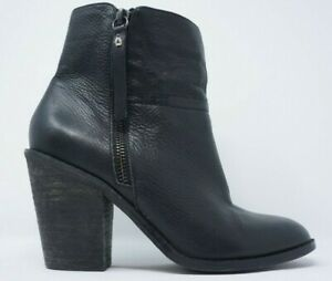Details about Anthropologie Kelsi Dagger ankle Boot womens 6 black Heel Booties 3.5