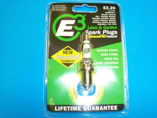 NEW E3 20 SPARK PLUG FITS BRIGGS ENGINES RC12YC RC14YC LIFETIME GUARANTEE