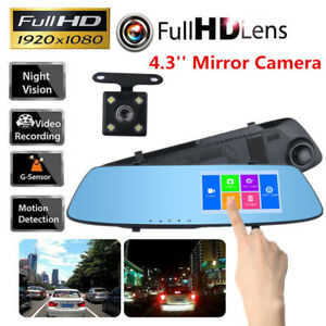 4-3-039-039-Touch-Screen-Car-Camera-HD-Mirror-DVR-Vehicle-Camcorder-Dash-Cam-G-Sensor