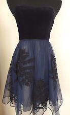 Women's Floreat Anthropologie Velvet Tulle Embellished Strapless Dress - Sz 0