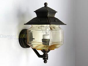Lanterna Parete Esterno : Applique lampada parete lanterna classica alluminio esterno
