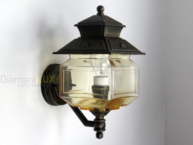 Applique lampada parete lanterna classica alluminio esterno giardino