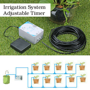 Details about Automatic Drip Irrigation System Kit Watering Timer  Controller 10m Tube USB