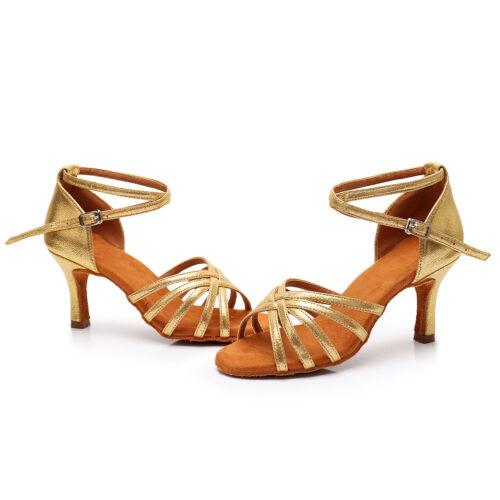 Hot sale Women/'s Ballroom Latin Tango Dance Shoes Salsa 5 Colors  5//7cm Heels