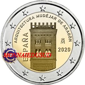 2-Euro-Commemorative-Espagne-2020-Architecture-Aragon-UNC-NEUVE