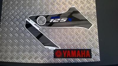 yamaha wr 125 x tank aufkleber linke seite schwarz original yamaha ebay. Black Bedroom Furniture Sets. Home Design Ideas