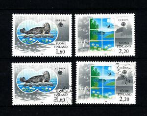 1986 Finnland Mi-Nr 985-986** postfr + gest  Europa-Union CEPT