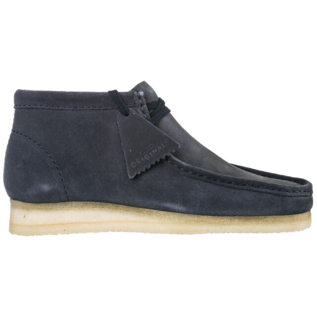 CLARKS MEN'S SUEDE DESERT BOOTS LACE UP ANKLE BOOTS NEW WALLABEE BLUE 088
