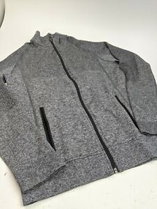 Women's Lululemon Merino Wool Blend Track Jacket Gray Sz S