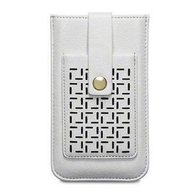 "Lexi Perforated Pattern Cream Pouch Case with Card Holder for iPhone 6/6S (4.7"")"