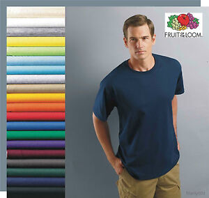 T-SHIRTS Fruit of the Loom BLANK BULK LOTS Colors or White Plain S-XL Wholesale