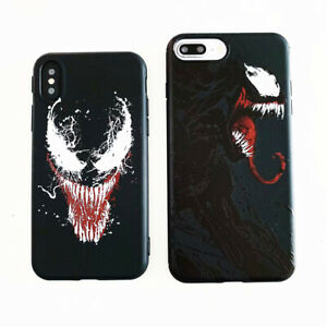 Monster-Venom-Marvel-Silicone-Phone-Case-Cover-For-iPhone-X-XS-Max-XR-6-7-8-Plus