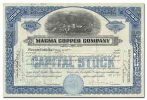 Magma-Copper-Company-Stock-Certificate