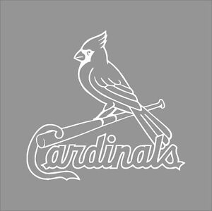 cardinals coloring pages baseball logos | St Louis Cardinals MLB Team Logo 1 Color Vinyl Decal ...
