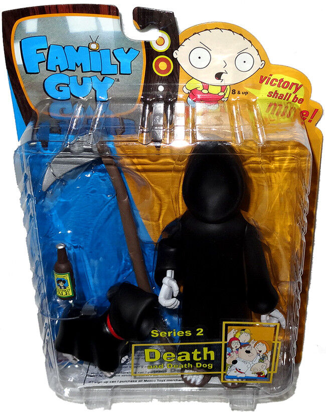Family Guy Death Action Figure Hooded Variant Variant Variant Series 2 RARE MIB Mezco Toy 397f6c