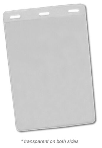 "25 PC VERTICAL 3 SLOT VIP PASS TICKET HOLDER 6/"" X 4/"" CLEAR TRANSPARENT"