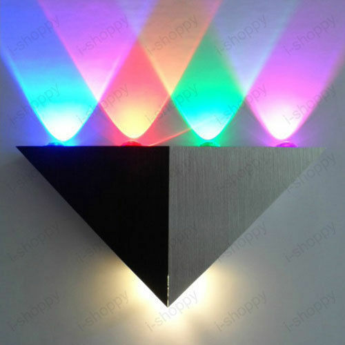 Dimmable/Not 5W LED Wall Sconce Light Up/Down Triangle Lamp Disco Hotel Cafe KTV
