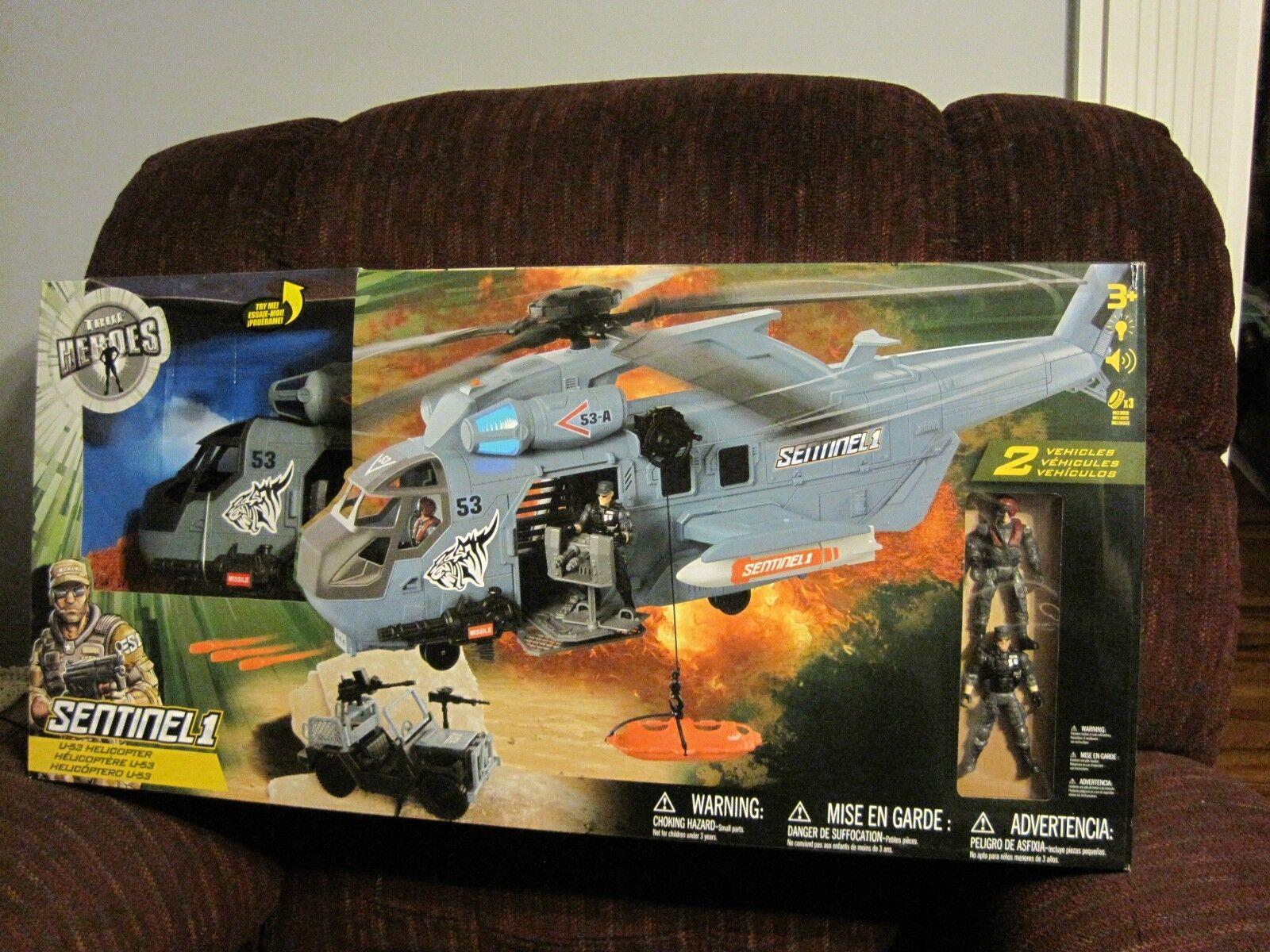 Un helicóptero u - 53, el jeep nuevo, no se abrió.