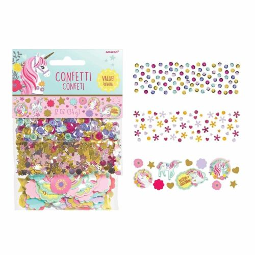 Amscan Unicorn Birthday Party Supplies Decoration Magical Popper Confetti Pack