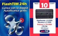 1573 SCHEDA RICARICA USATA TIM 10 FLASH FT-P GIU 2003 OCR 16 CAB 28