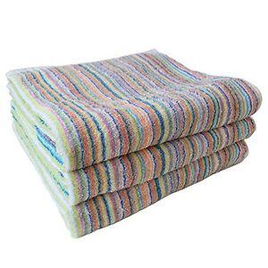 ECO Stripe Face Towel 5 sheets set Made in Imabari Japan