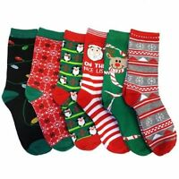 6-Pairs Refael Collection Christmas Style Socks (9-11 Size)