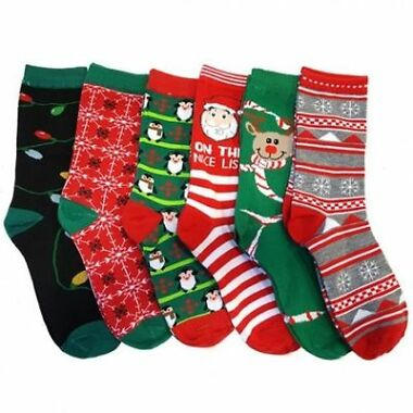 6-Pairs Refael Christmas Style Socks