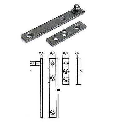 Länge 60mm im restaurierungsshop 8 Stück RS Zapfenband #5011 verzinkt