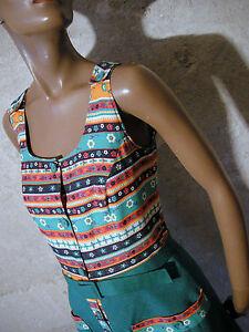 Schick Baumwolle 70er Vintage Vtg Kleidung C Retro 1970 36 Jahre rohmer Kleid HrOqZHB
