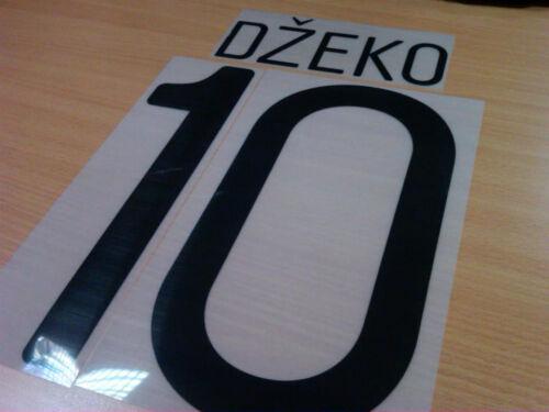 Dzeko, Nasri Original Champion League Nameset Sporting ID