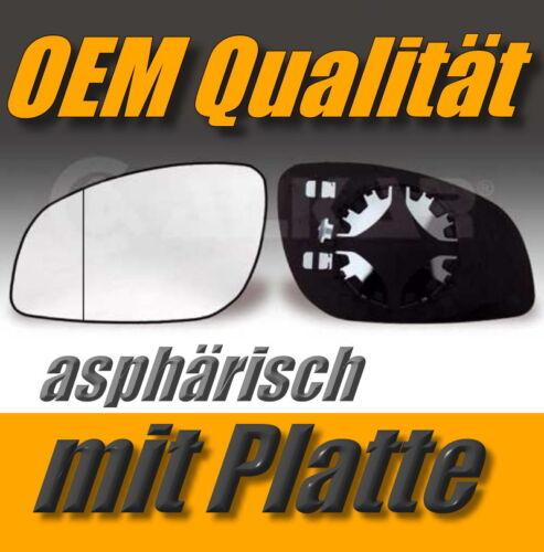 Vidrio pulido Opel Vectra C//signum a partir de 02 enlaces asphärisch exterior espejo
