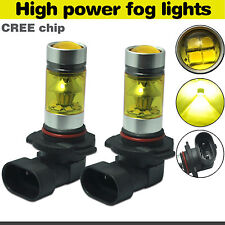 H10 9145 LED Fog Light 100W Cree 4300K Yellow Projector Driving 1200LM DRL Bulb