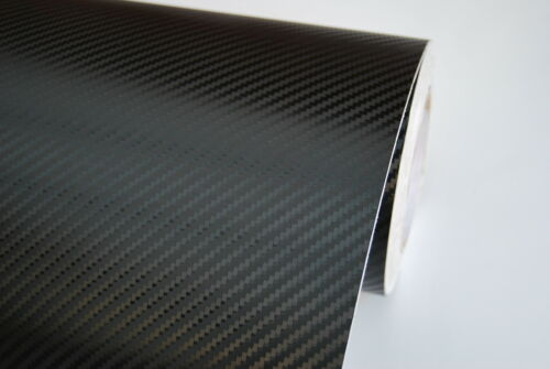 3D Carbon Fibre Vinyl Wrap【All Meter Sizes】Black Air//Bubble Free