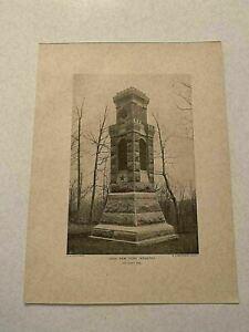 KP115) 150th New York Infantry Monument Gettysburg Civil War 1902 Print