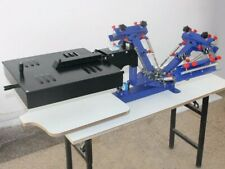 Micro Adjust 3 Color Screen Printing Machine With Flash Dryer Combine Press Tool
