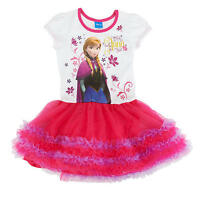 UK STOCK Frozen Tutu Dress Anna   pink ages 1 2 3 4 5 6 years girls party fancy