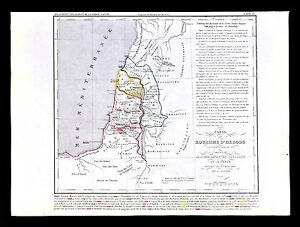1849 Houze Map - Kingdom of Herod - Holy Land Judea Samaria Galilee on beirut on map, islam on map, constantinople on map, damascus on map, rome on map, medina on map, london on map, israel map, aleppo on map, baghdad on map, amman on map, cairo on map, golan heights on map, alexandria on map, mecca on map, middle east on map, kabul on map, juba on map, gaza on map, tel aviv on map,