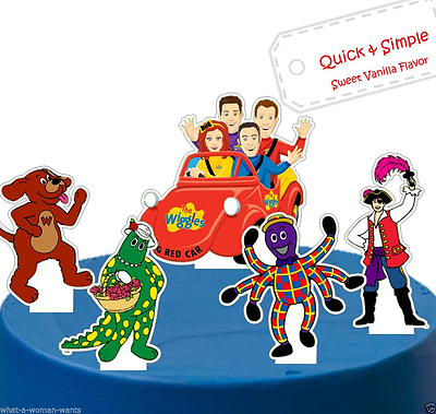 Wiggles Large Pre-cut Edible Wafer Cake Topper Set ...